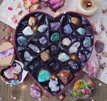 HEART BOX OF CRYSTALS- Ships Early February