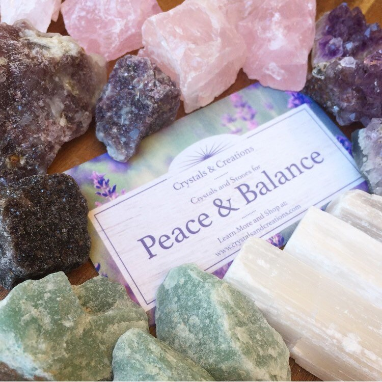 Peace and Balance Crystal Set | Crystals for Anxiety