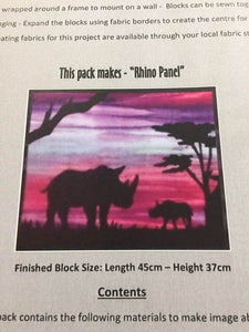 African Animal Silhouette Kits