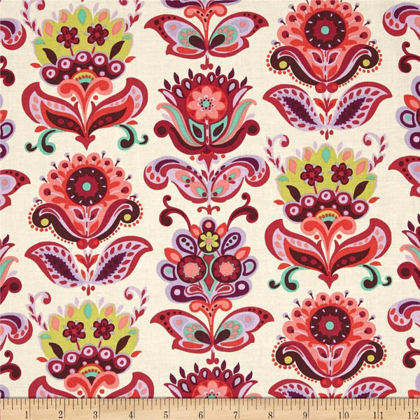 Amy Butler - Bright Heart - Folk Bloom - Natural $22.00 per metre