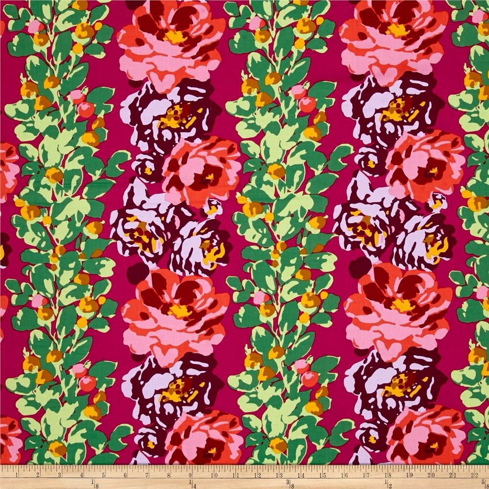 Amy Butler - Eternal Sunshine - Rose Vine - Wine $22.00 per metre
