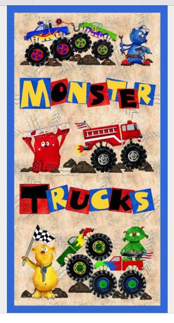 QT Monster Truck Mania Panel 1649 23107 X