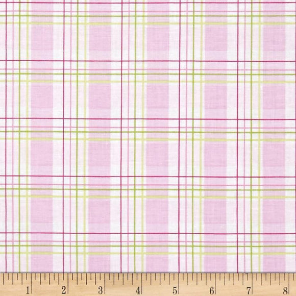 Tanya Whelan - Zoeys Garden, Faux Plaid in Pink