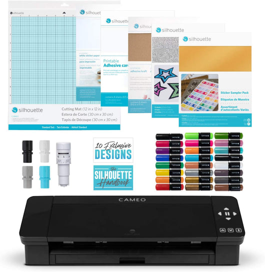 Silhouette Cameo 4 -  Black Crafts Bundle