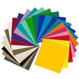 "Oracal 651 Glossy Vinyl - 24 Pack of Top Colors - 12"" x 12"" Sheets"