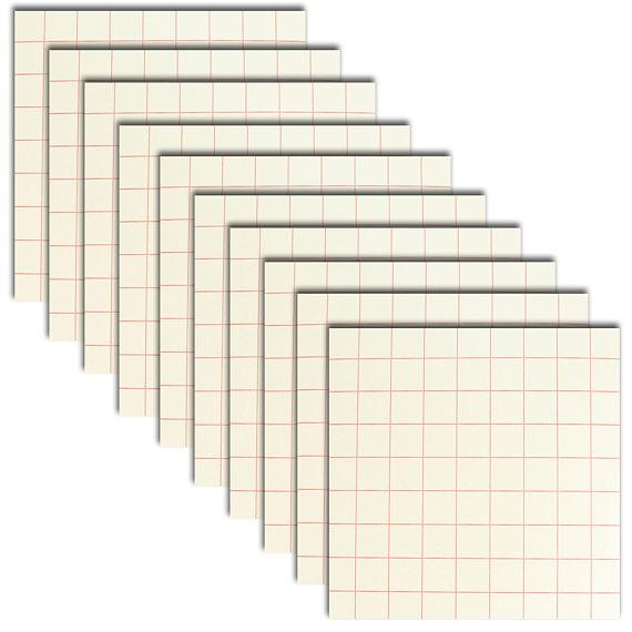 "12"" x 12"" Sheets of Red Grid Transfer Paper"