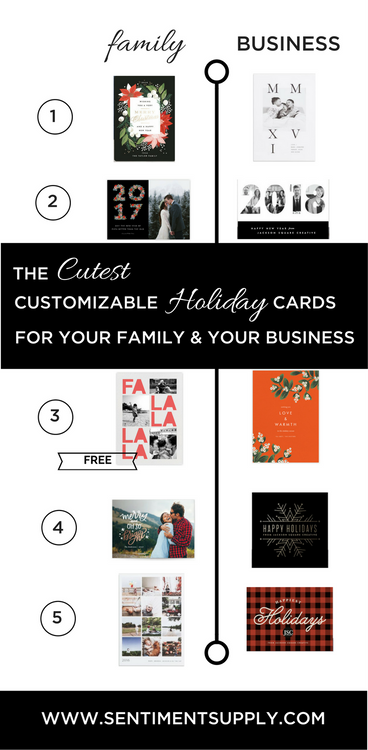 The Cutest Customizable Holiday Cards for Your Family & Your Business