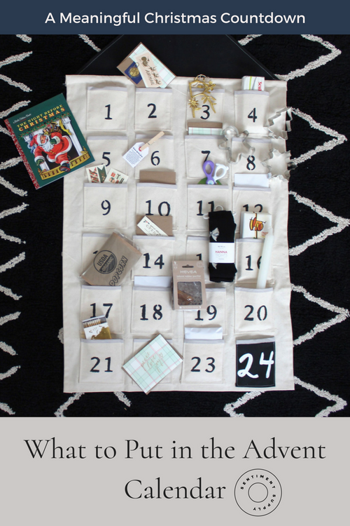 A Meaningful Christmas Countdown : What to Put in the Advent Calendar