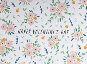 happy valentine's day card with flower bouquet pattern to say i love you this holiday