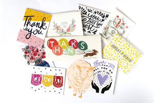 thank you greeting card set from sentiment supply