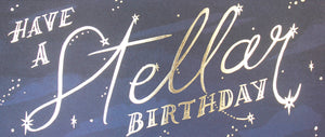 have a stellar birthday gold foil long greeting card happy bday