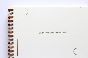 daily weekly monthly poketo planner with gold foil cover