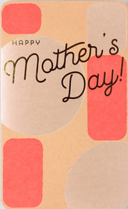 happy mother's day pink block shapes geometric background goil foil