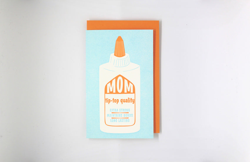 mom elmer's glue bottle mother's day greeting card