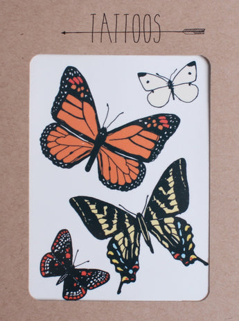 monarch and variety of butterfly temporary tattoos hartland brooklyn blink 182 tattoo