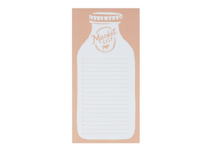 milk jug blush pink market list magnetic notepad for grocery lists