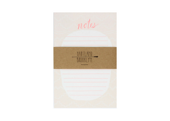 notes notepad neon pink tribal, aztec pattern with white oval and pink lines