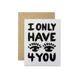 i only have eyes for you valentines day love card