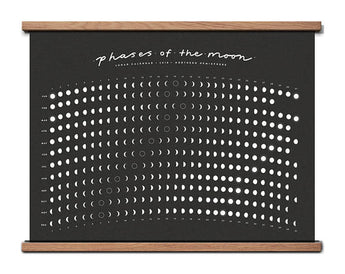 phases of the moon screen printed calendar 2018