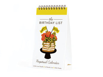 perpetual birthday calendar for desk monthly birthday cakes