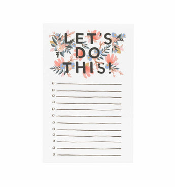 let's do this flower notepad with lines and boxes to check to-do list