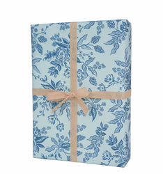 blue florals rifle paper company co. gift wrap 3 sheet roll