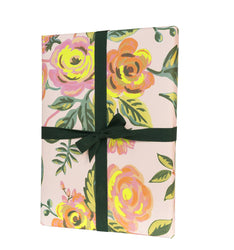 neon florals rifle paper company co. gift wrap 3 sheet roll