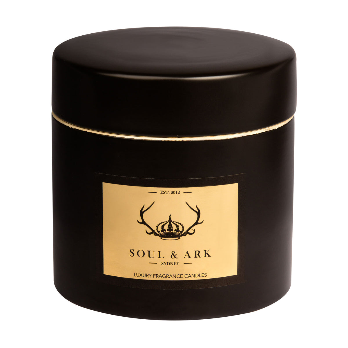 Soul & Ark Black Ceramic Soy Candle