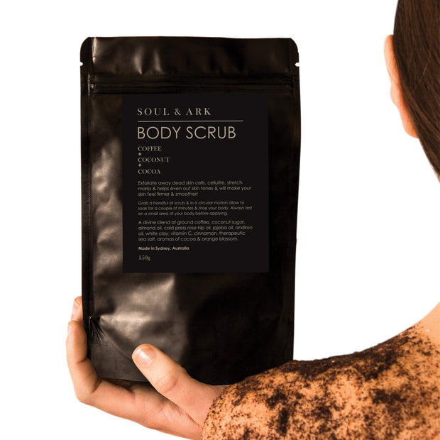 Soul & Ark Body Scrub - Coffee + Coconut + Cocoa - Ultimate Body Care