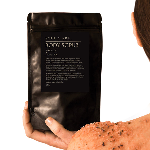 Soul & Ark Body Scrub - Pink Salt + Lavender - Ultimate Body Care