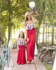 Bohemian Mom and Daughter Dress !!