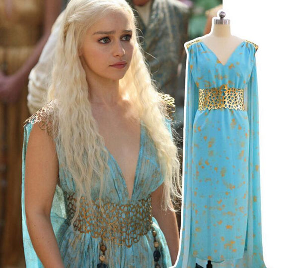 Game of Thrones Cosplay Costume Daenerys Targaryen Women Dress!! 60% OFF!!
