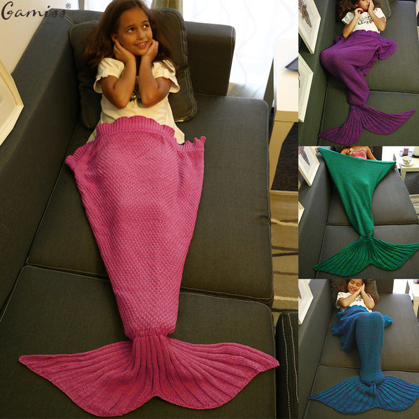 Warm Knitted Mermaid Blanket!!! 6 Colours Available!!! 60% OFF!!!