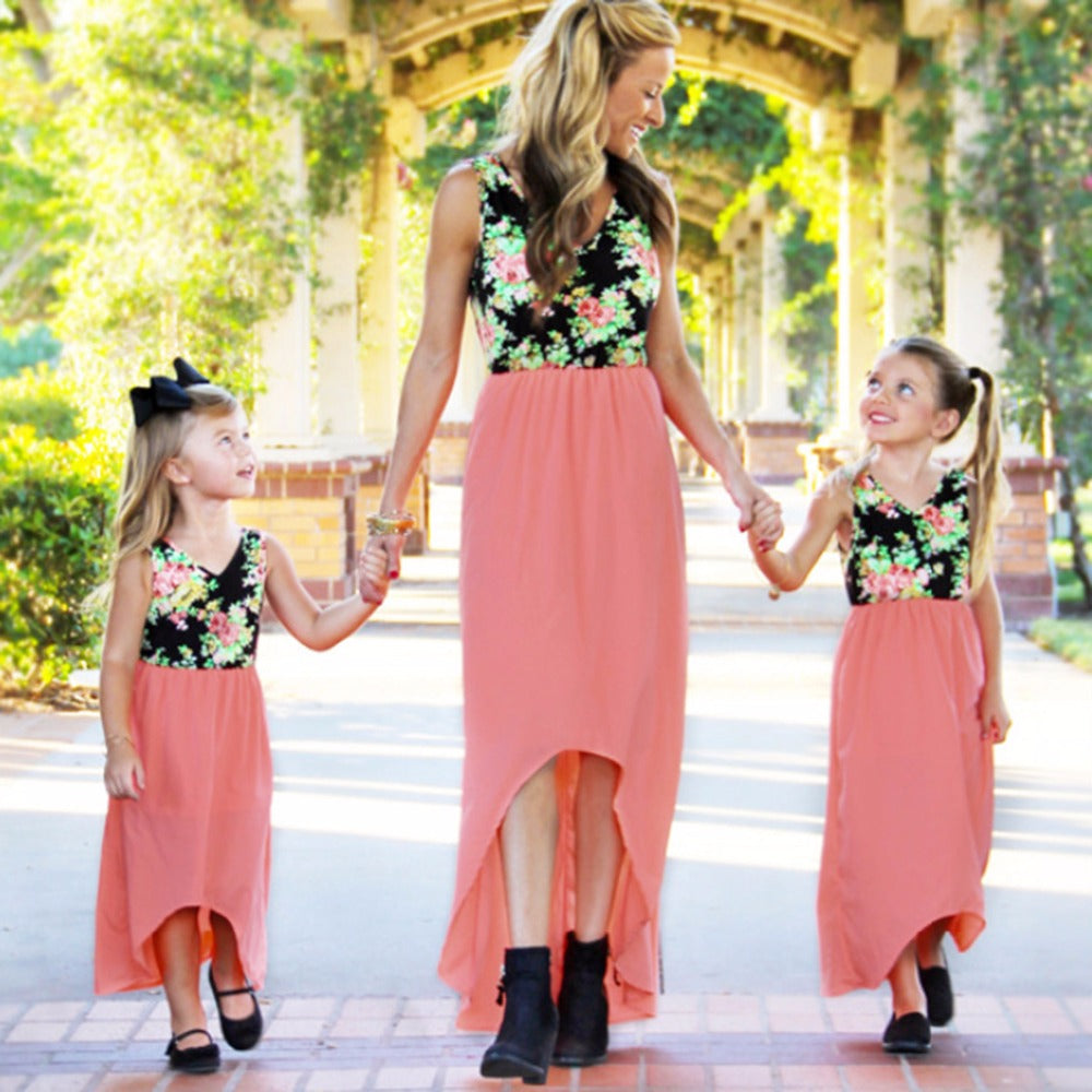 039528d198 Maxi Dresses For Mother And Daughter Matching