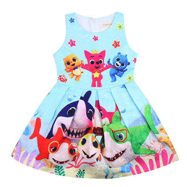 Family Shark Cute Dress!!! 10 Colours Available!!! 60% OFF!!!