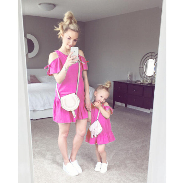 Mother Daughter Matching Mini Dress !!! 70% OFF !!!