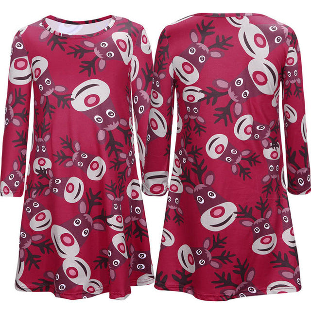 Autumn Mother Daughter Matching Dresses