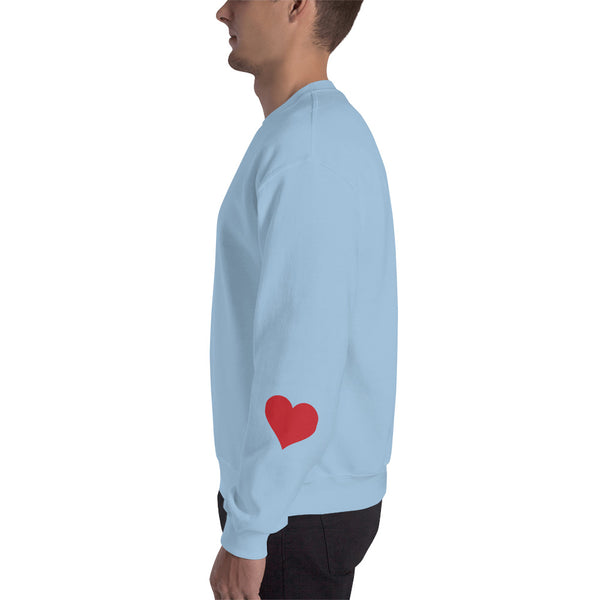 HEART ON YOUR SLEEVE SWEATSHIRT