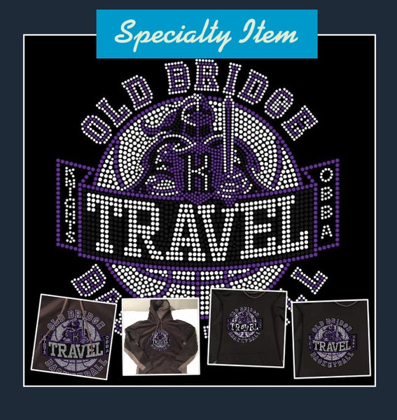 OBBA (TRAVEL) Dri-Fit Sweatshirt with Hood (Rhinestone Logo)