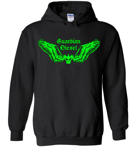 GUARDIAN DIESEL (DESIGN ON FRT) - Green - Hoodie