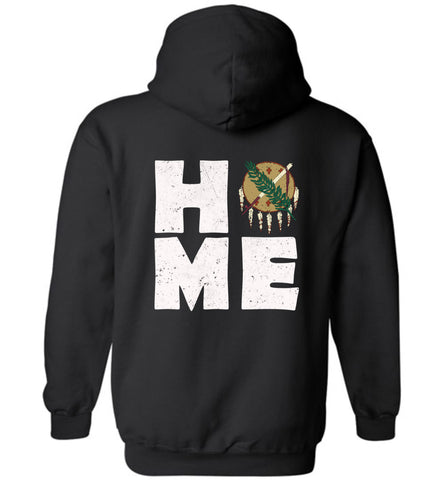 HOME OK FLAG (DESIGN ON BACK) - Hoodie