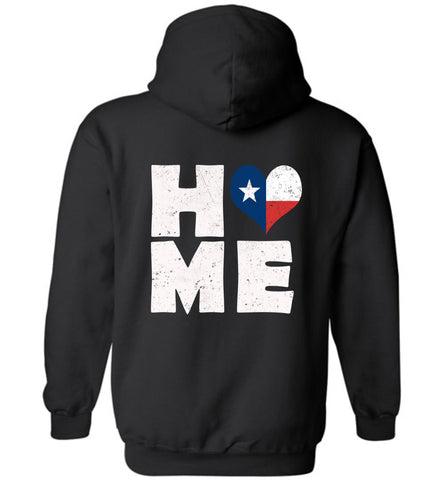 HOME TX FLAG (DESIGN ON BACK) - Hoodie