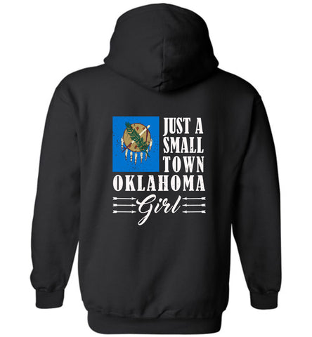 Small Town Girl Ok (Design on Back) - Hoodie
