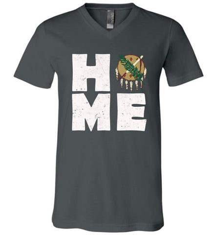 HOME OK FLAG (DESIGN ON FRONT) - V-Neck