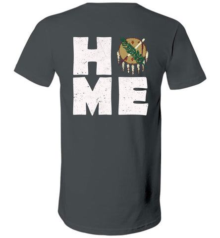 HOME OK FLAG (DESIGN ON BACK) - V-Neck