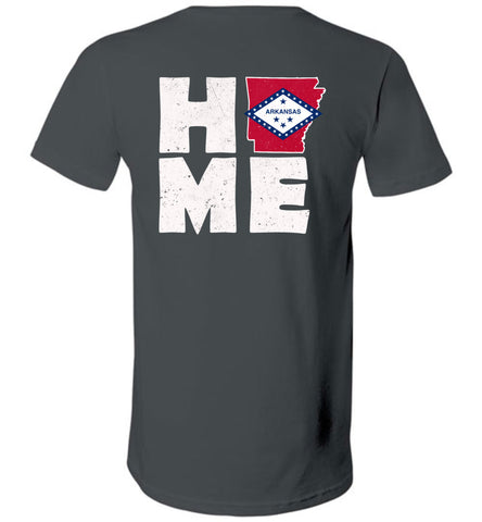 Home AR Flag (Design on Back) - V-Neck
