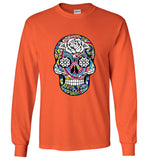 Paisley Skull - Long Sleeve