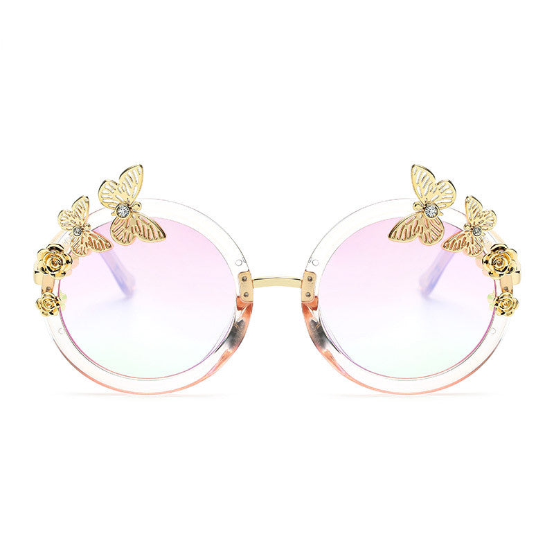 Round Butterfly Sunnies for Women - Red-Hautecouture