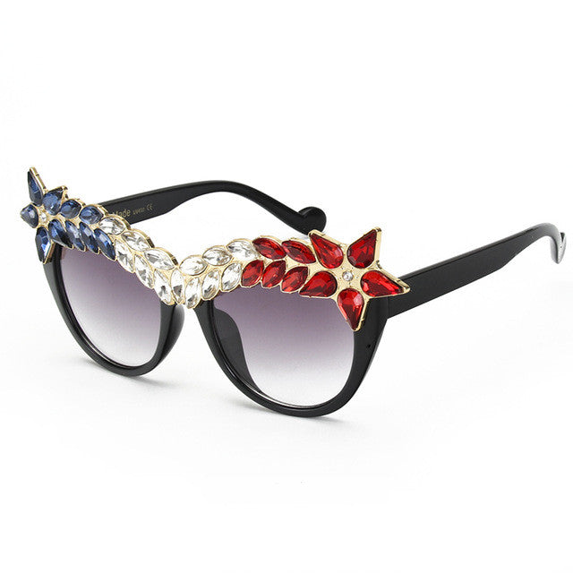 Women's Vintage Cat Eye Sunnies - Red-Hautecouture