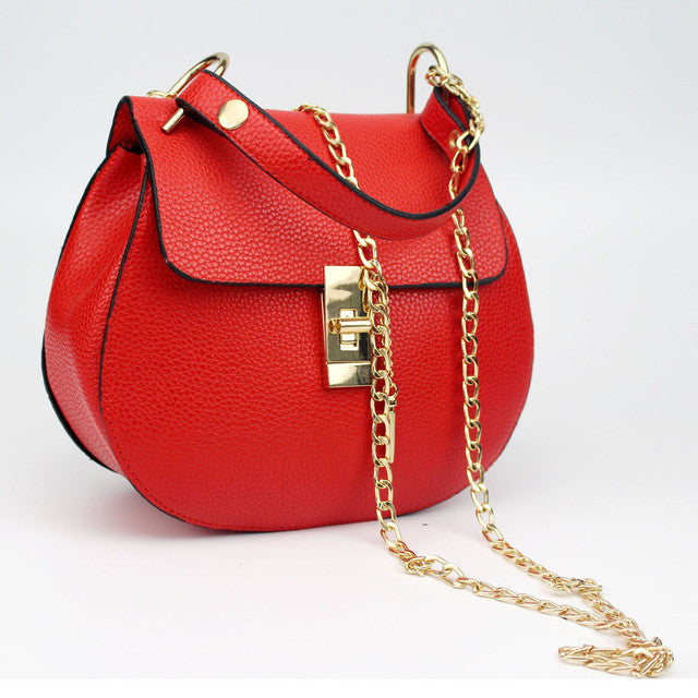 Women's Large Fashion Shoulder Purse - Red-Hautecouture